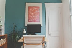a painted room
